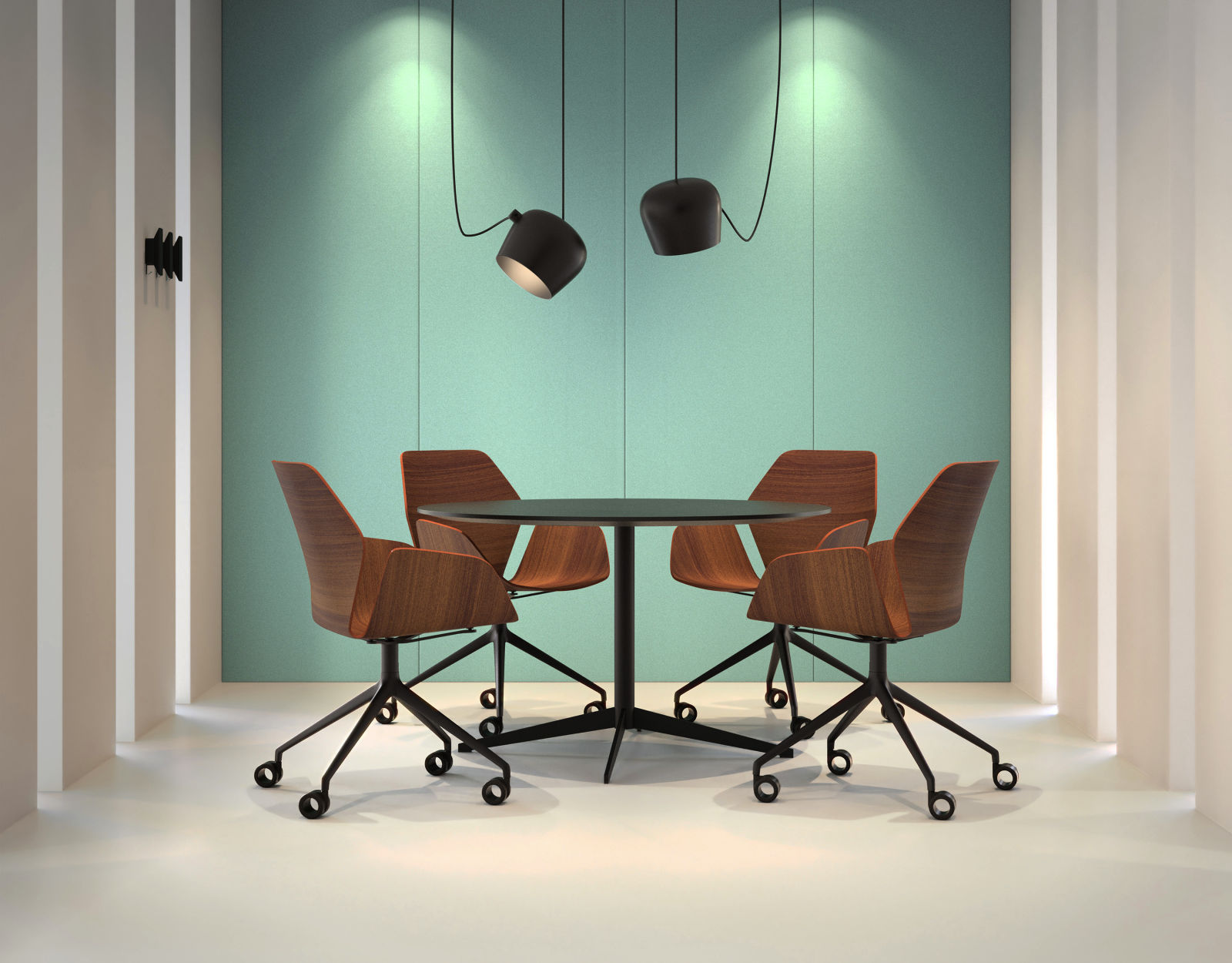 Western Office Shared Spaces Idea Lookbook - Conference table chairs with wheels
